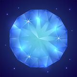 Vector illustration of precious sapphire gemstone Royalty Free Stock Photos