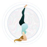 Vector illustration of a pregnant woman doing pregnancy yoga poses Stock Photography
