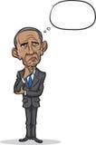Vector illustration of president Barack Obama. Standing frustrated vector illustration