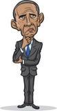 Vector illustration of president Barack Obama. Standing frustrated stock illustration