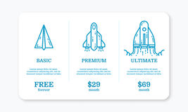 Vector illustration of pricing subscription plan table template  Stock Image