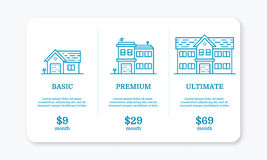 Vector illustration of pricing subscription plan table template Royalty Free Stock Images