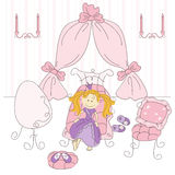 Vector illustration of a  princess bedroom Stock Photo