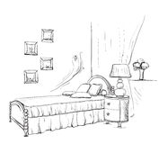 Vector illustration of a princess living room Stock Images