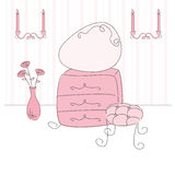 Vector illustration of a  princess room Stock Images
