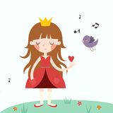 Vector illustration of princess. Stock Photography