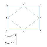 Vector illustration of the problem of finding the area of a quadrilateral-01 Stock Images