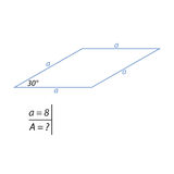 Vector illustration of the problem of finding the area of a rhombus-01 Royalty Free Stock Photography
