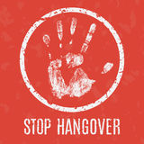 Vector illustration. Problems of humanity -  stop hangover Royalty Free Stock Image