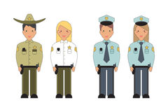 Vector Illustration of Professions. Royalty Free Stock Photography