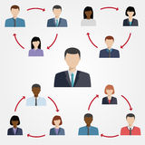 Vector illustration of project team. Royalty Free Stock Photography