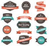 Vector illustration of promotional design elements Royalty Free Stock Photo