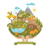 Vector illustration of protection nature. Stock Image