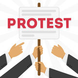 Vector illustration of a protest Royalty Free Stock Photo