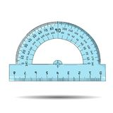 Vector illustration of protractor Stock Image