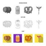 Vector illustration of pub and bar icon. Set of pub and interior vector icon for stock. Isolated object of pub and bar symbol. Collection of pub and interior royalty free illustration
