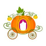 Vector illustration of pumpkin carriage isolated on white background vector illustration