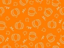Pumpkin line art seamless pattern background. Vector illustration of pumpkin line art seamless pattern background stock illustration