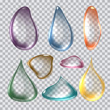 Vector Illustration of Pure Clear Realistic color Drops Royalty Free Stock Photography