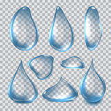 Vector Illustration of Pure Clear Realistic Water Drops Stock Images
