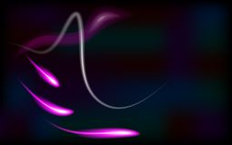 Vector illustration of purple  abstract background with blurred magic neon light curved lines Stock Images