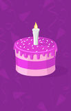 Vector illustration of purple cake Stock Photo