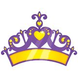 Vector Illustration Of Purple Princess Crown. Eps 10 Stock Photo