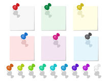 Vector illustration of push pin collection Stock Photo