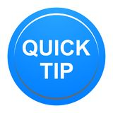 Quick tip blue round button help and suggestion concept. Vector illustration of quick tip blue round button help and suggestion concept on white background Royalty Free Stock Images