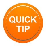 Quick tip orange round button help and suggestion concept. Vector illustration of quick tip orange round button help and suggestion concept on white background Royalty Free Stock Photography