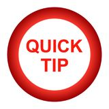 Quick tip red round button help and suggestion concept. Vector illustration of quick tip red round button help and suggestion concept on white background Stock Photography