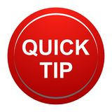 Quick tip red round button help and suggestion concept. Vector illustration of quick tip red round button help and suggestion concept on white background Royalty Free Stock Photos
