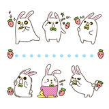 Vector illustration of rabbit on white background Royalty Free Stock Images