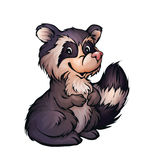 Vector illustration of raccoon in cartoon style Royalty Free Stock Photos