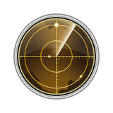 Vector illustration of the radar screen Royalty Free Stock Photo