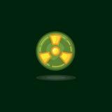 Vector illustration radiation symbol, radiation sign, radioactive waste, radiation activity Stock Photo