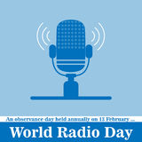 Vector illustration of a radio for World Radio Day Stock Photo