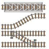 Vector illustration of railway parts grey rails maintenance concrete technology build equipment metro engineering. Vector illustration of railway gray parts Royalty Free Stock Photography