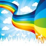 Vector illustration. Rainbow. Stock Photography