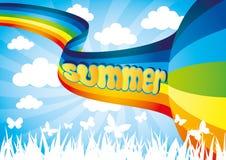 Vector illustration. Rainbow. Royalty Free Stock Photo