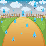 Vector Illustration Of Rainy Background Stock Images