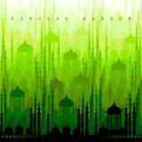 Ramadan Kareem Greetings for Ramadan background with Islamic Mosque Stock Photo