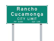 Rancho Cucamonga City Limit road sign royalty free stock images