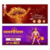 Ravana and Hanuman in Happy Dussehra festival of India Royalty Free Stock Photo