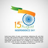 India Independence Day greeting card. Vector illustration ready to use Stock Images