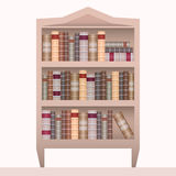 Vector illustration of realistic bookshelf with books. Stock Image