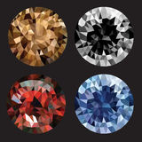 Vector illustration of a realistic diamond set Stock Photo