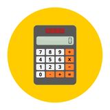 Vector illustration of realistic electronic calculator Royalty Free Stock Photography