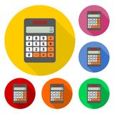 Vector illustration of realistic electronic calculator Royalty Free Stock Photos