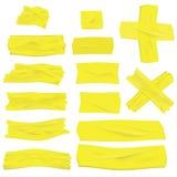 Realistic Masking Tape Design Element Mockup. Vector illustration. Realistic greenish yellow masking tape isolated on white Stock Photo